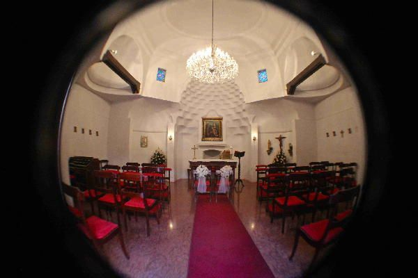 Wide angle view of the little chapel at the Estelar La Fontana #CdPPhotography #Bogota #Colombia