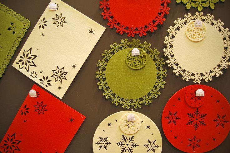 #Salvamanteles navideños de fieltro, de Fantastiko Chitsmas.