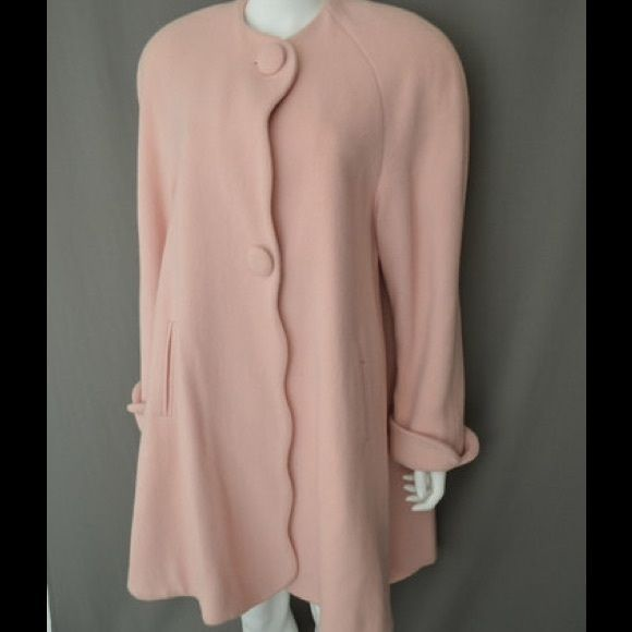Neiman Marcus Salmon Pink Wool Coat My mom purchased this for me from Neiman Marcus online for $1295. It's not my style. Neiman Marcus Jackets & Coats Pea Coats