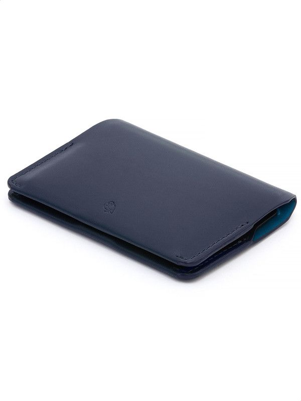 Bellroy card holder in blue genuine leather