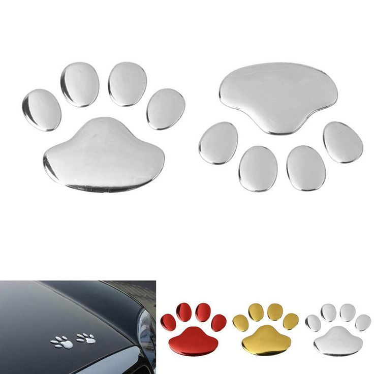 3D Dog Animal Paw Foot Decal Sticker Decals DIY Decor For Auto Car/Bumper/Window #Unbranded