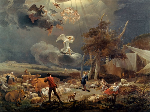 """The Annunciation to the Shepherds""-by Nicolaes Berchem 1656"