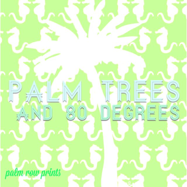 Dreaming of summer /palm tree quote/ summer quote /seahorse