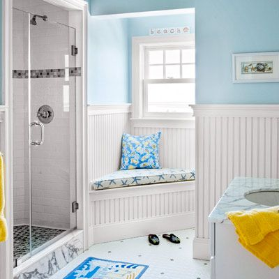 Fill the void alongside a shower stall or a vanity with a spot to sit while slathering on lotion or blow-drying your hair. | Photo: Eric Roth | thisoldhouse.com