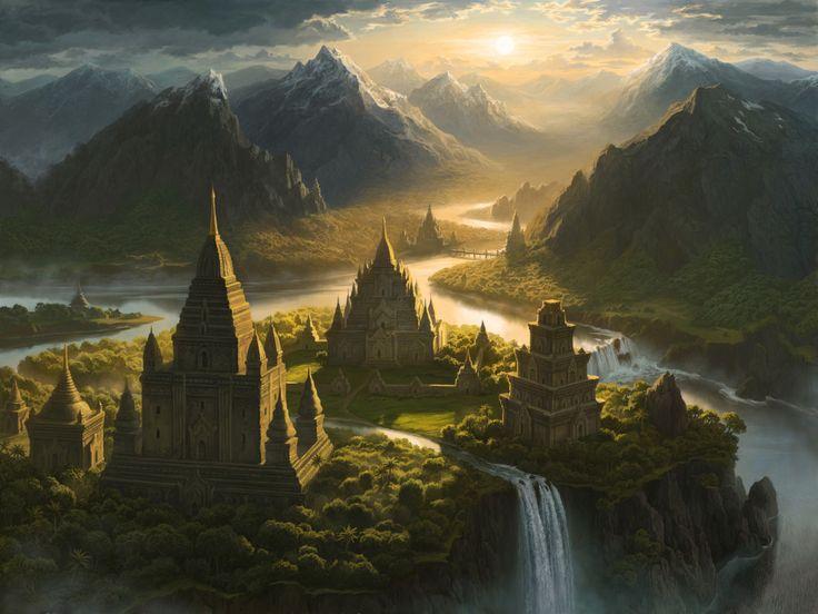 "ArtStation - Shangri-La illustration for the ""Lost Horizon"" game, Olga Antonenko"