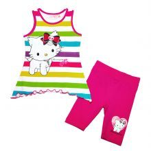 set tricou-colant kitty - fuchsia