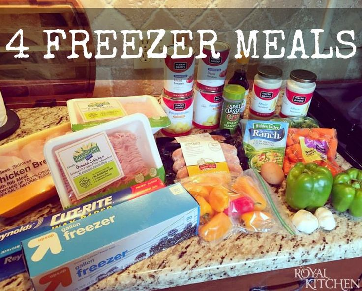 4 Freezer Meals ~ Whether you're preparing for a baby, gifting a new mommy-to-be or just want to make life a bit easier for yourself I hope you'll give these super quick, super easy freezer meals a try!