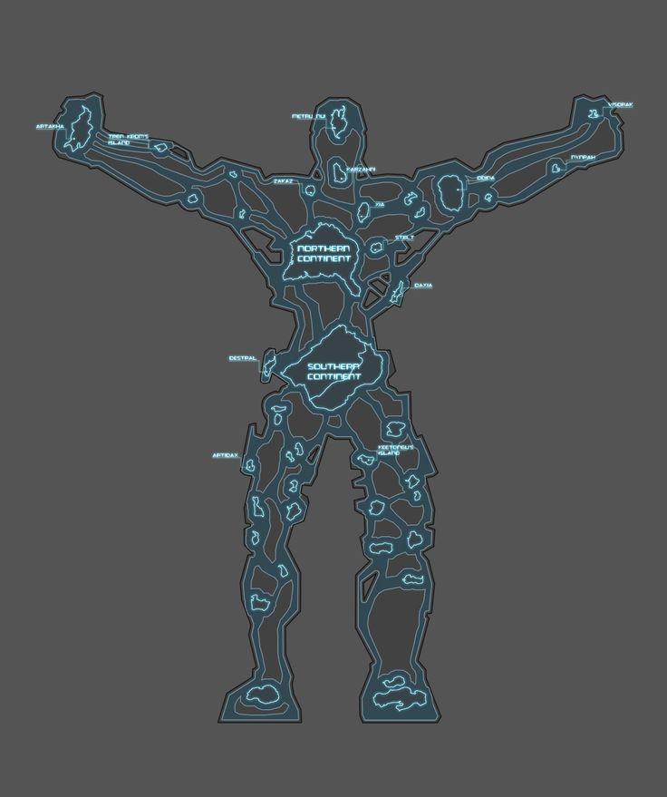 Bionicle: Technorealm - World Map by Demitsorou on deviantART