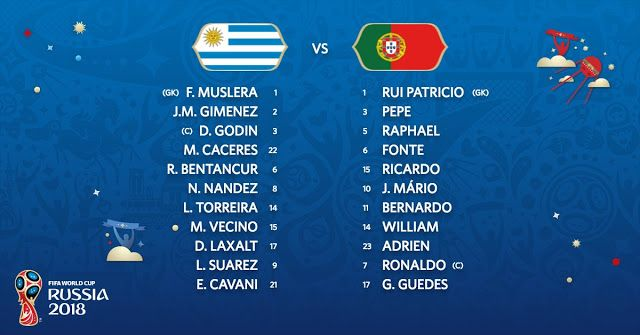 Starting Lineup Uruguay Vs Portugal Live Stream Fifa World Cup Fifa World Cup Match