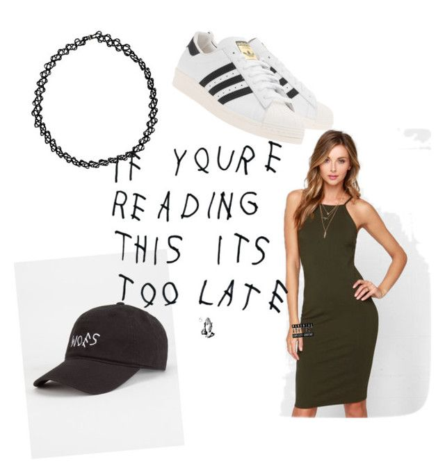 """Drake and future concert"" by traplord93 ❤ liked on Polyvore featuring adidas Originals, Glamorous, Blue Crown and Boohoo"