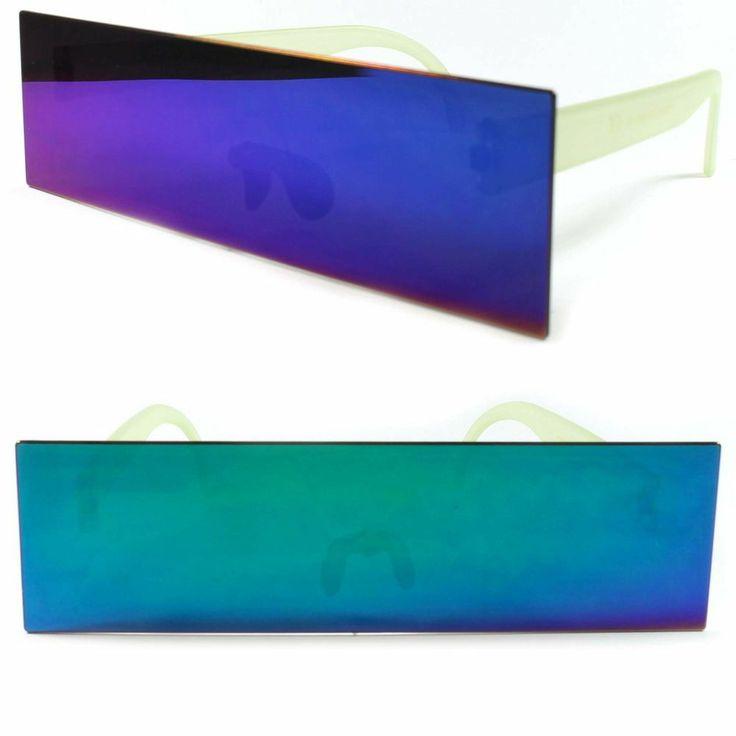 Space Robot Party Costume Futuristic Flat Green Unique Novelty Sunglasses A84D #KISS #Futuristic