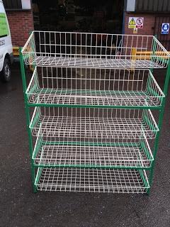 Experts in shop fitting & shop shelving | shelving4shops: New Stock: Vegetable Rack Displays