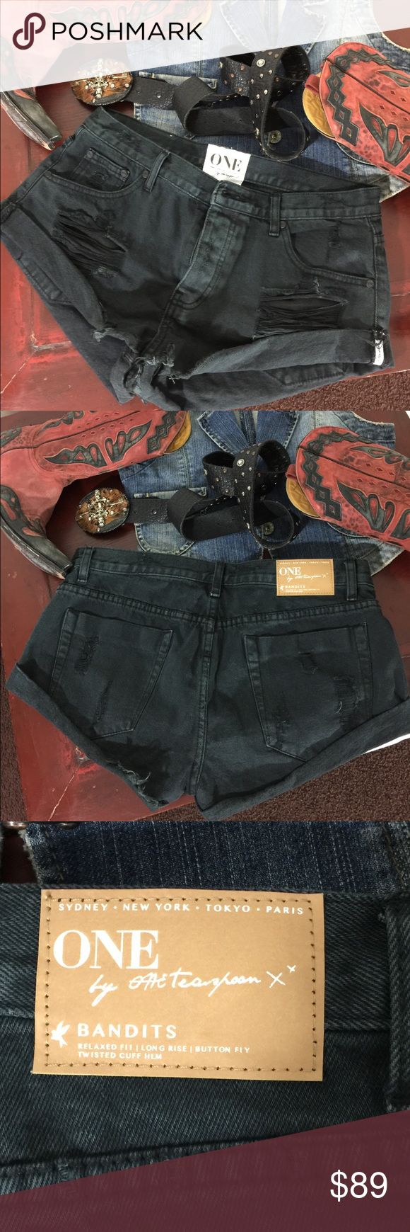 One teaspoon Bandits Shorts NWOT New with out tags (online order did not had tags) One Teaspoon Shorts Jean Shorts