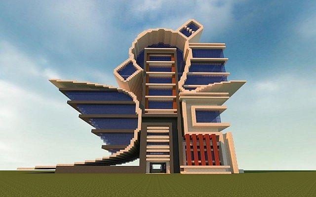 Modern  Futurist City Building Minecraft Project