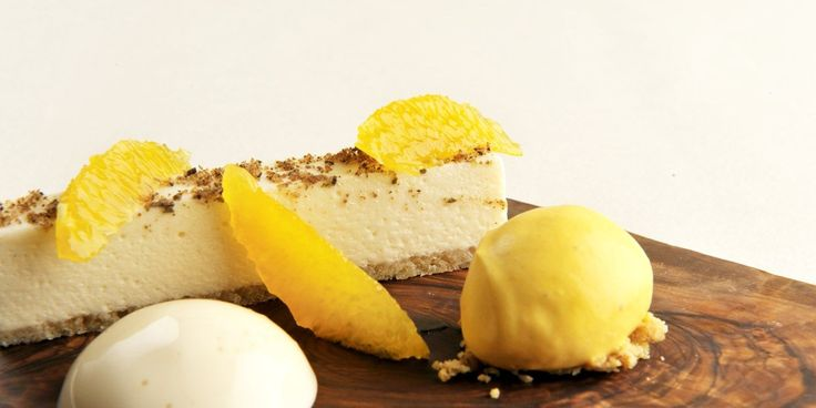This beautifully light white chocolate mousse is matched with a cardamom espuma and tangy clementine sorbet in this recipe from James Sommerin