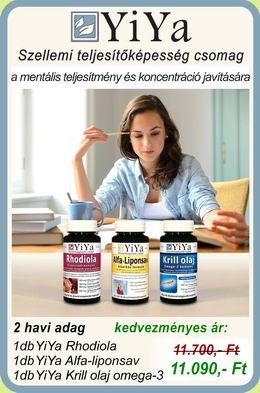 Szellemi teljesítőképesség fokozó csomag rhodiolával, alfa-liponsavval és krill olajjal
