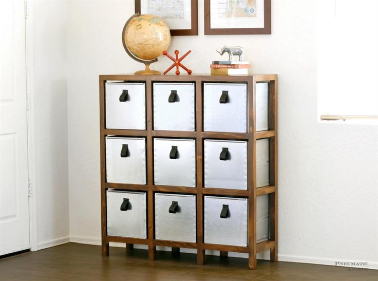 This 9 space cubby organizer can be put together quickly with off the shelf lumber and finished however you'd like. A great storage solution for crafts, toys, shoes, or even office supplies.