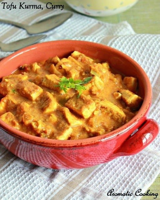 Tofu curry, Indian cuisine.