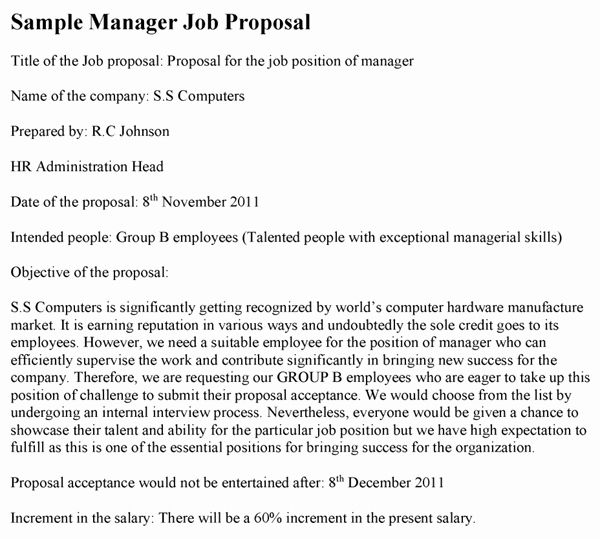 Sample Job Proposal Template In 2020 Proposal Templates