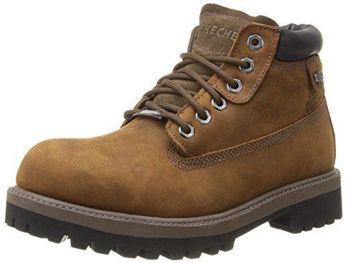 Skechers Sergeants Verdict Men's Boot,Dark Brown,6.5 3E US - $61.99 FS at amazon.com