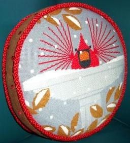 Charley Harper needlepoint pillow