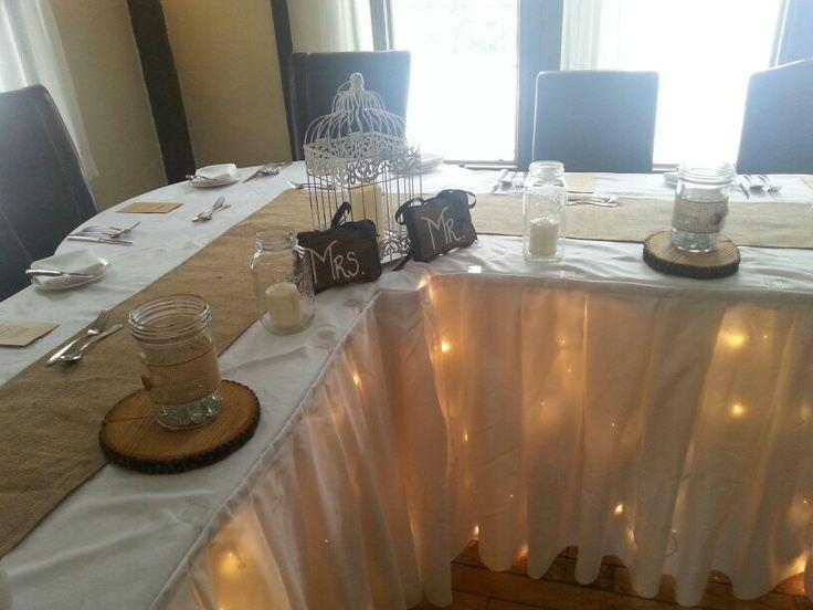 Head table lighting by Amanda Ross