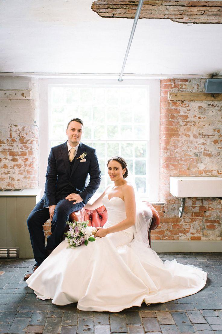 Industrial Mill Wedding With Metallic Soft Purple Hues Sam Helen