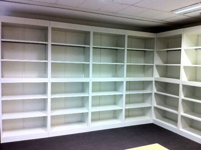 Open Shelving for Manager's Office & Printing Area