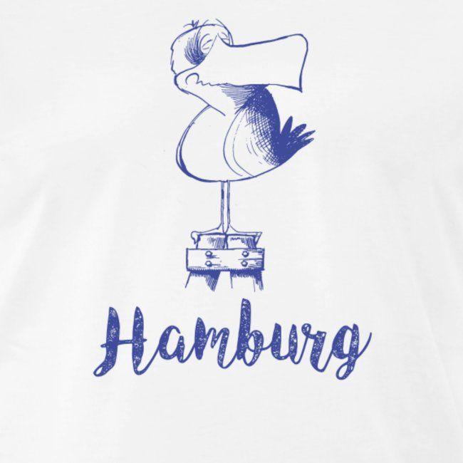Hamburg Mowe Manner Premium T Shirt Mit Bildern Hamburg Bremer Stadtmusikanten Vintage Illustration