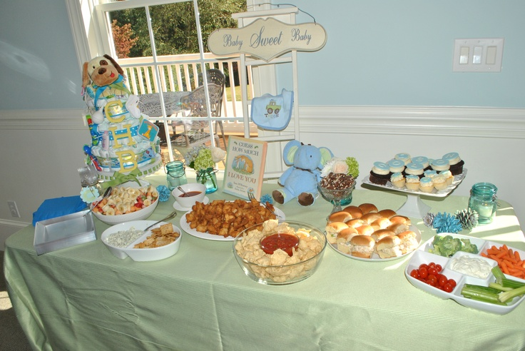 baby boy shower food table baby shower pinterest