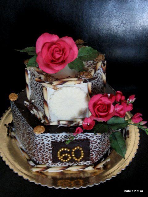 Čokoládová s ružami