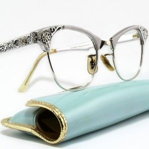 Silver Filigree Cat Eye Glasses by Art Craft with case review at Kaboodle
