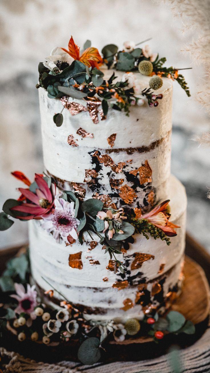 Hochzeitstorte Boho Brautkleid Zweiteiler Hochzeit…