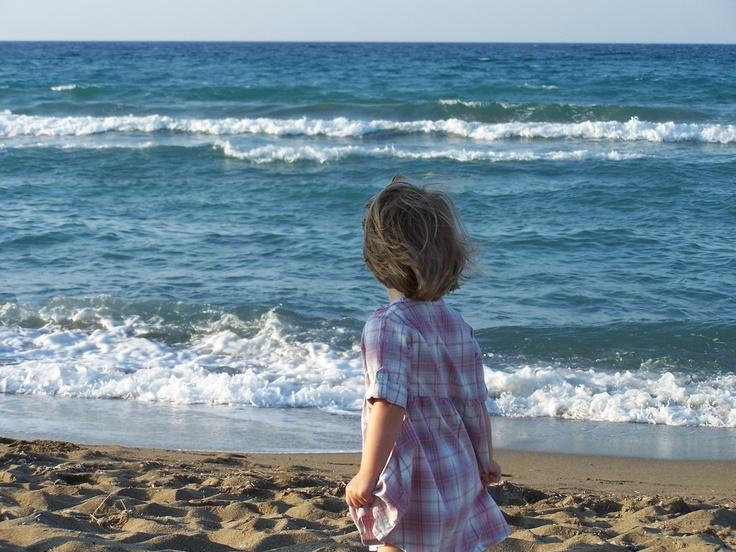 Kamilka poprvé u moře