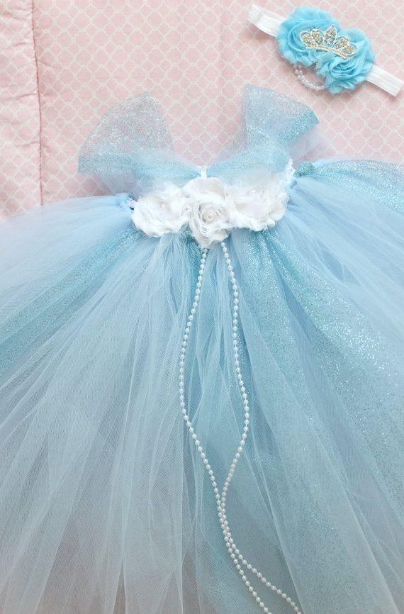 Beautiful Cinderella Tutu Dress Costume with by AverysCoutureLook, $58.00