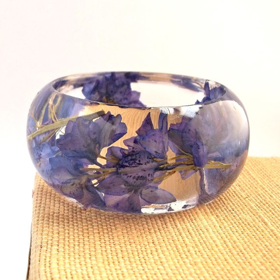 Need. Want. Must have.: Flower Resins, Resins Flower, Purple, Resins Bracelets, Resins Botanical, Resins Bangles, Bangles Bracelets, Botanical Resins, Botanical Bracelets