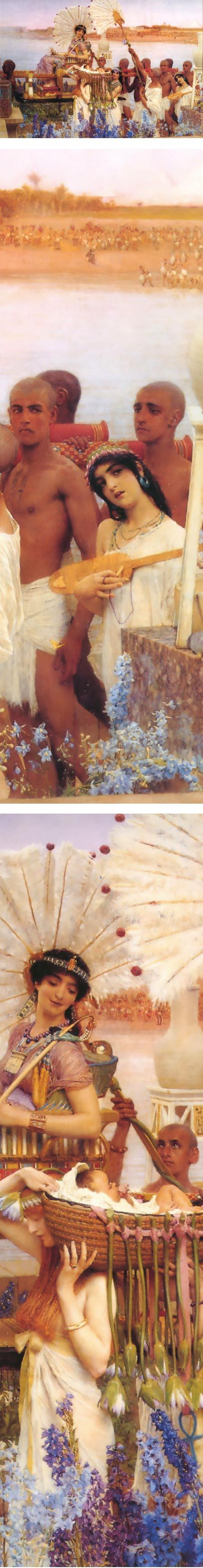 Eye Candy for Today: Alma-Tadema's Moses (Src - linesandcolors.com)