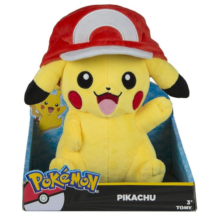 Pikachu Large Plush - with Ash Hat - NEW from Tomy