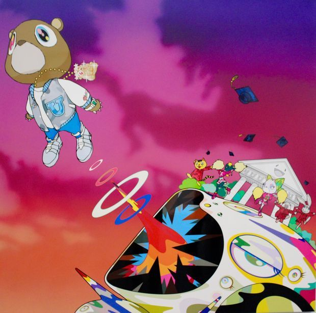 Murakami, who's collaborated with the likes of Kanye West and Louis Vuitton, debuts his exhibit Tuesday.