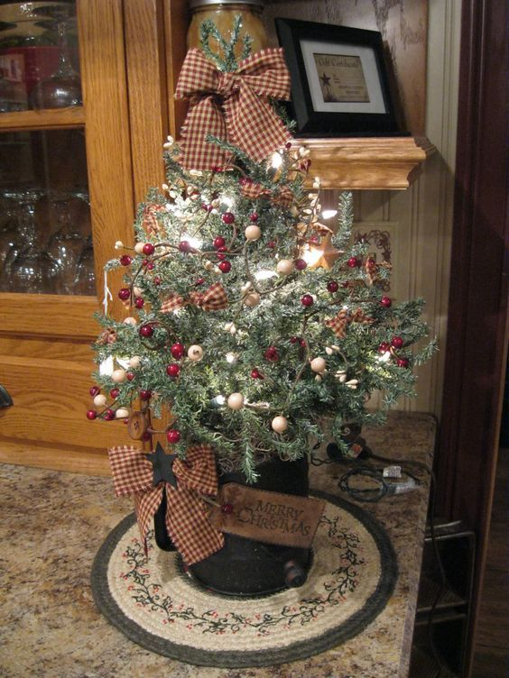 878 best Christmas images on Pinterest Christmas trees - primitive christmas decorations