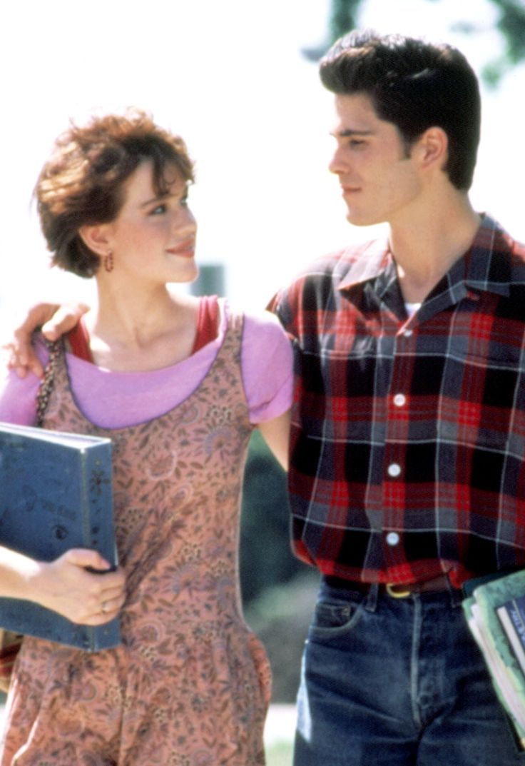 Molly Ringwald and Michael Schoeffling in Sixteen Candles, 1984