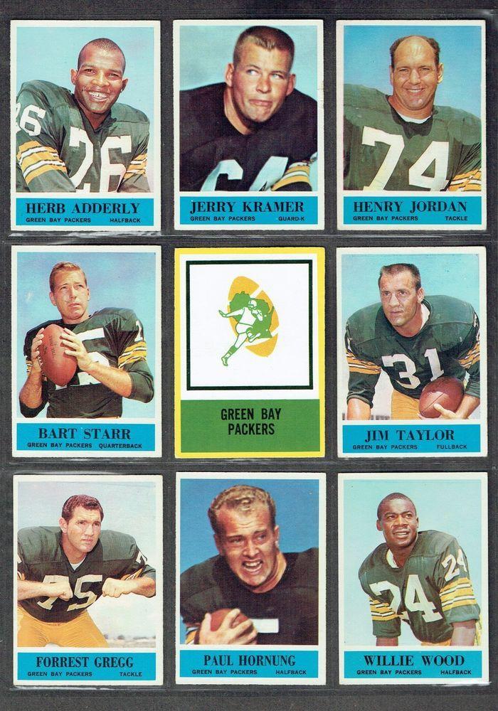 1964 Philadelphia AUTHENTIC PACKERS TEAM CARD COLLAGE 8/HOF W/67/LOGO CARD EX+  #GreenBayPackers