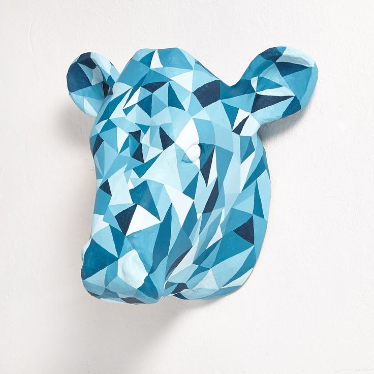 Blue Diamond Cow by PAPERSCULPTUREEU on Etsy