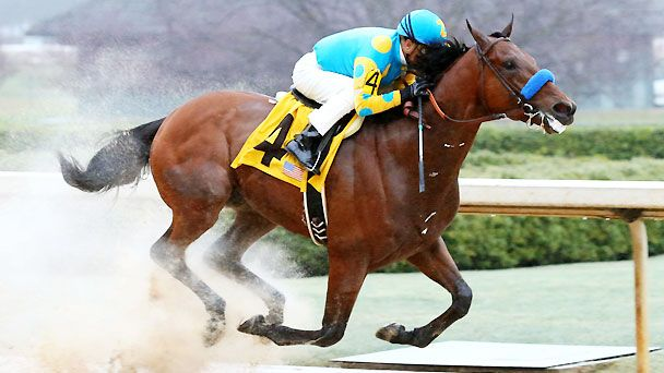 American Pharoah wins 2015 Rebel Stakes.
