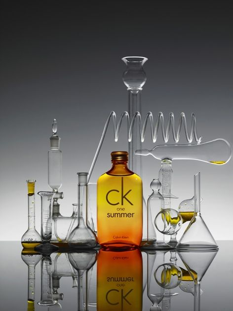 Metz & Racine.  #Beauty.  Still Life.  Glassware.  Science.  Calvin Klein.  Liquids.