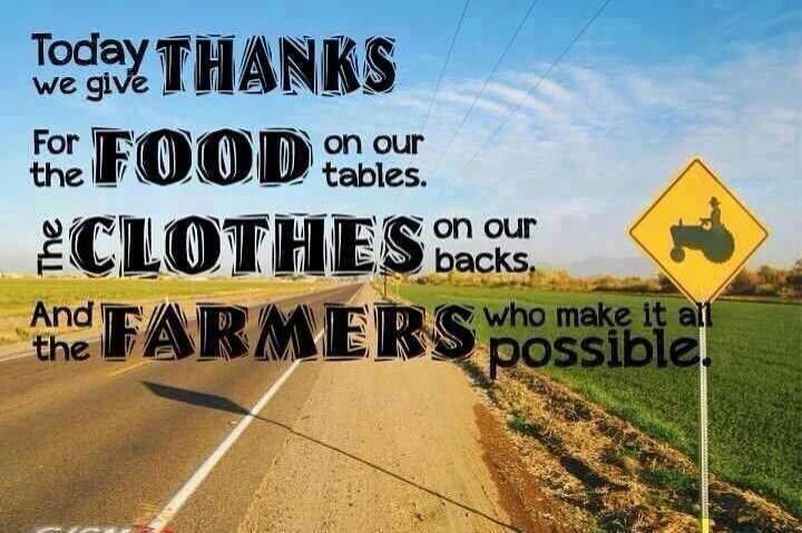 farming quotes and sayings | Give thanks for farmers