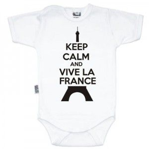 Body bébé Keep Calm and Vive la France (8 coloris)