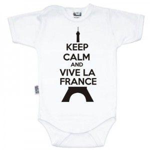 Body bébé Keep Calm and Vive la France (8 coloris)