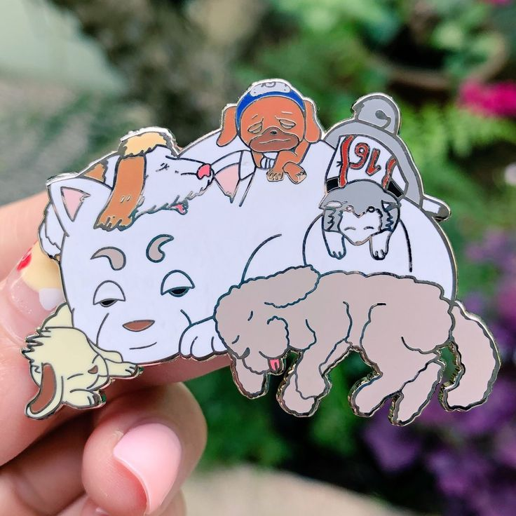 Anime doggos enamel pin nandemo pins pin and patches