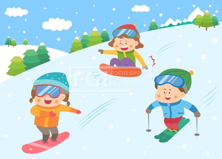 SILL163, 겨울방학, 벡터, 에프지아이, 사람, 캐릭터, 어린이, 생활, 라이프, 친구, 교육, 가족, 겨울, 방학, 남자, 여자, 3인…